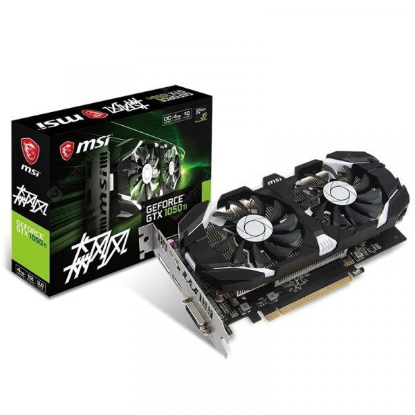 italiaunix-MSI GeForce GTX 1050 Ti Hurricane 4G Graphics Card  Gearbest