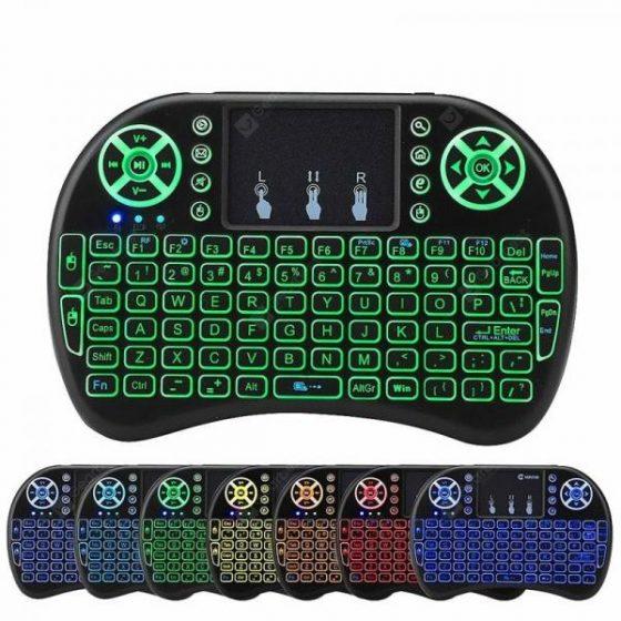 italiaunix-Mini Wireless 2.4G Back Light Touchpad Keyboard  Gearbest