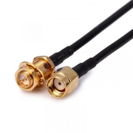 italiaunix-RP-SMA Male to RP-SMA Female Connector Pigtail Cable WiFi Router Antenna Extension Cable  Gearbest