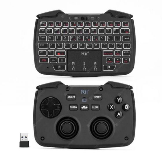 italiaunix-Rii RK707 Mini Wireless Game Controller Mouse Keyboard Combo  Gearbest