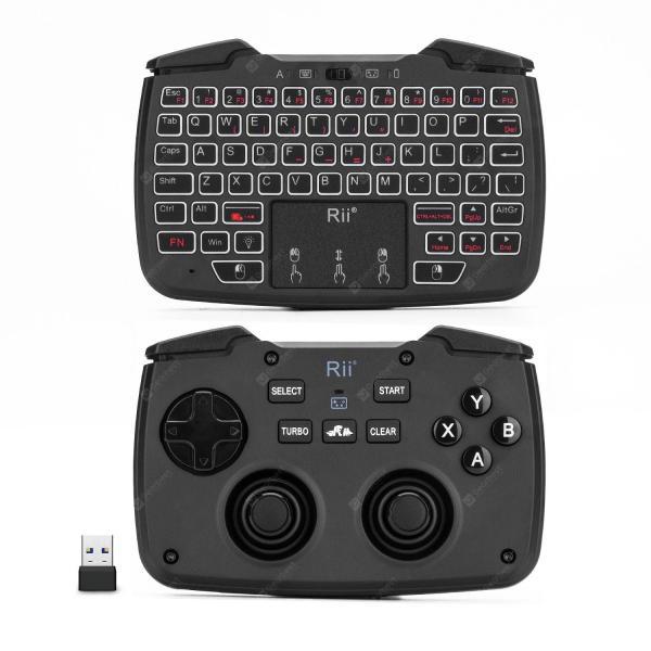italiaunix-Rii RK707 Mini Wireless Game Controller Mouse Keyboard Combo  Gearbest