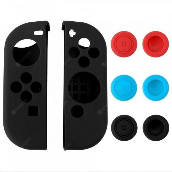 italiaunix-Silicone Skin Case with 6pcs Thumb Stick Caps for Nintendo Switch Controller  Gearbest