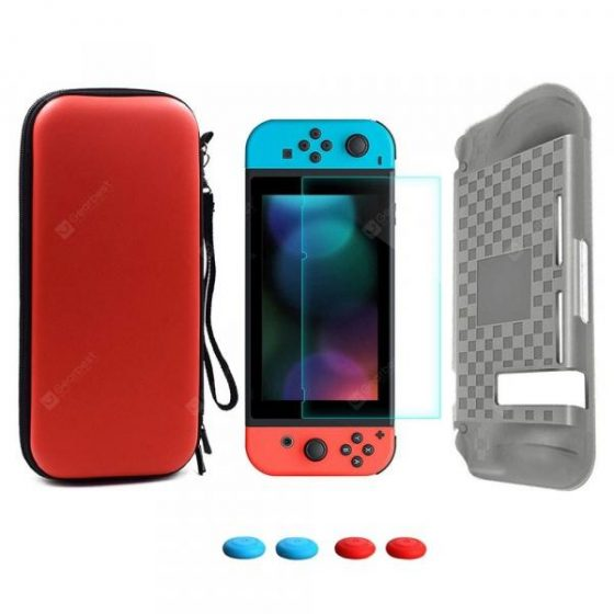 italiaunix-Storage Bag Tempered Glass Screen Protector + Silicone Case for Nintendo Switch  Gearbest