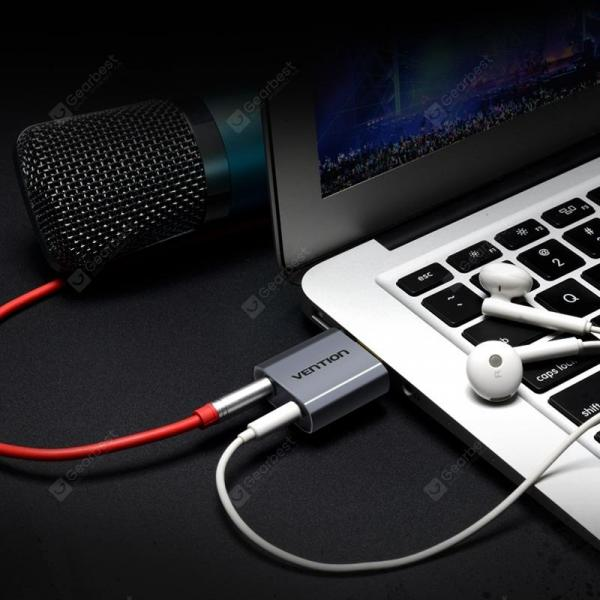 italiaunix-Vention VAB - S18 - H 7.1 Channel 3.5mm External USB Independent Sound Card Free Drive Plug and Play  Gearbest