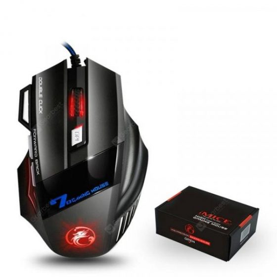 italiaunix-Wired Gaming Mouse Professional 7 Buttons Adjustable 5500DPI USB Cable Mouse  Gearbest