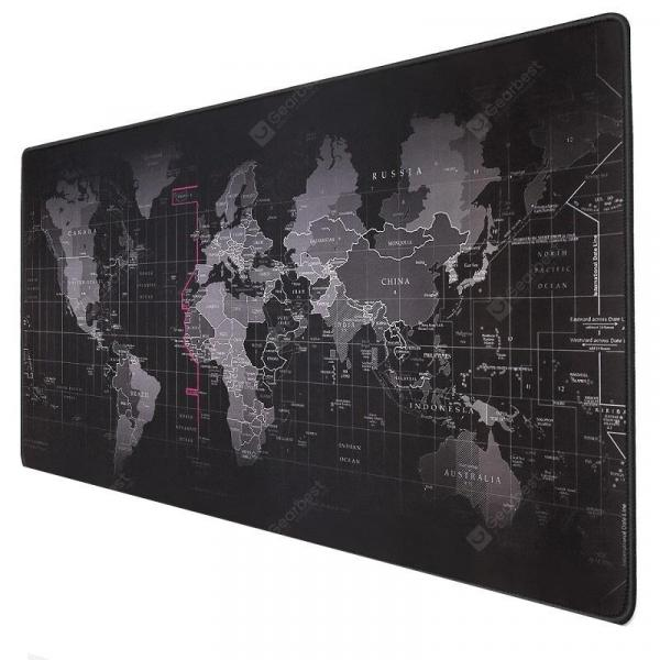 italiaunix-World Map Anti-slip Gaming Mousepad Large Mouse Pad  Gearbest