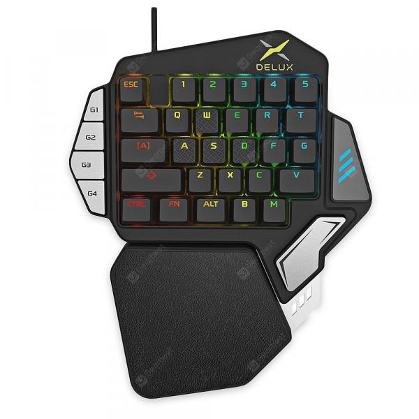 italiaunix-Delux T9X Wired Gaming Keypad 33 Keys One-handed Membrane Keyboard  Gearbest