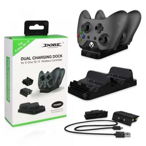 italiaunix-Game Controller Dual Battery Dual Charge Set Xbox one Handle Double Charger + Battery TYX-532  Gearbest