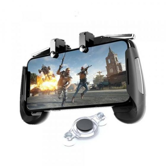 italiaunix-Minismile Mobile Gaming Joystick Controller Trigger Fire Button L1R1 Gamepad  Gearbest