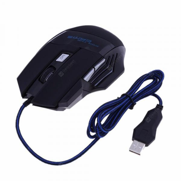 italiaunix-Minismile X4 6 Buttons 5500DPI USB Wired Optical Gaming Mouse Backlit Game Mice  Gearbest