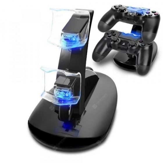 italiaunix-USB Dual Charger Charging Station Stand for PS4 / PS4 Pro /PS4 Slim  Gearbest