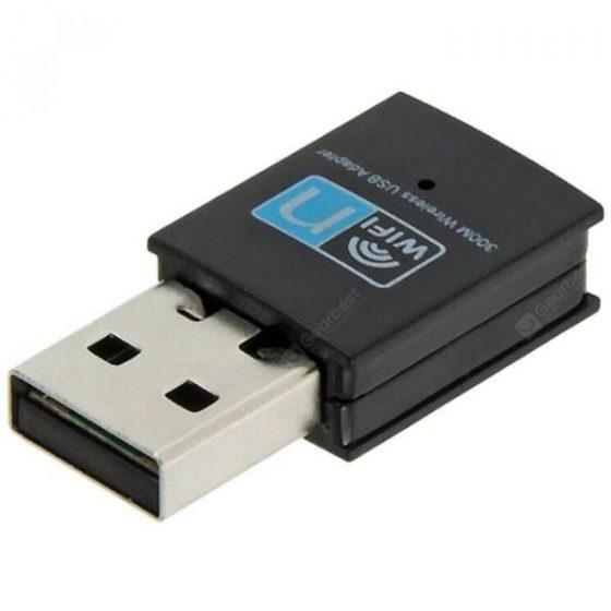 italiaunix-USB Wireless 300M WIFI Receiving Adapter  Gearbest