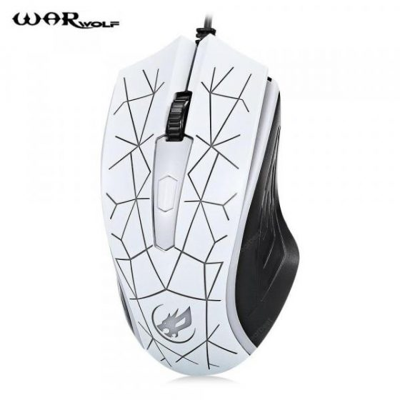 italiaunix-Warwolf M - 01 Gaming Mouse Adjustable DPI with Colorful LED Light  Gearbest