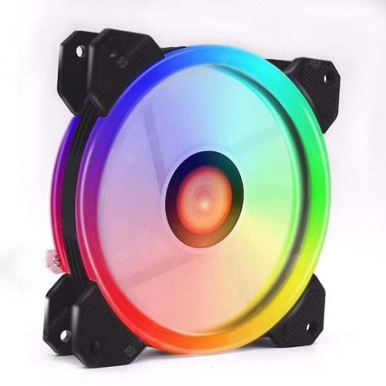 italiaunix-Wireless RGB LED Light 12cm Computer PC Case Cooling Fan CPU Cooler  Gearbest