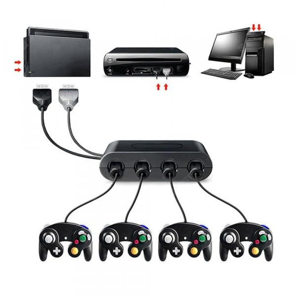 italiaunix-4 Ports For GameCube GC Controllers USB Adapter Converter for GC /PC/Switch Wiiu  Gearbest