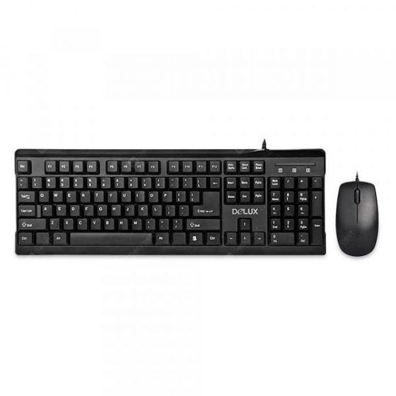 italiaunix-Delux K6002 + M138 Wired Keyboard and Mouse Combo 104 Keys with Palm Rest  Gearbest