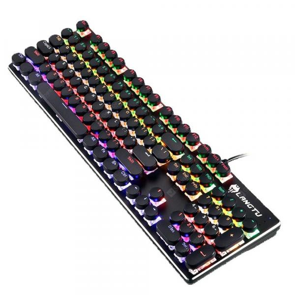 italiaunix-LANGTU G100 Gaming Mechanical Keyboard with 104 Round Keys  Gearbest