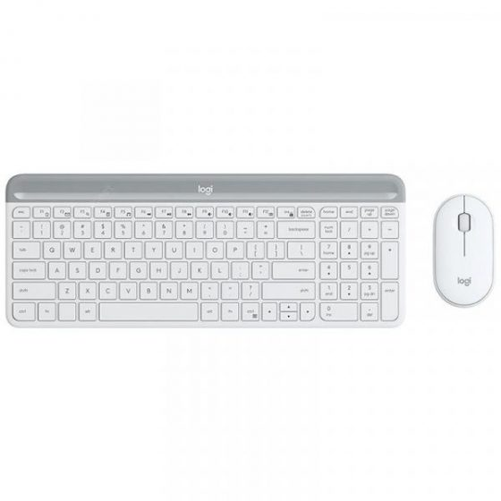italiaunix-Logitech MK470 108 Keys Wireless Nano Receiver Keyboard 2.4GHz Slim 1000DPI Optical Mouse Set Combo  Gearbest
