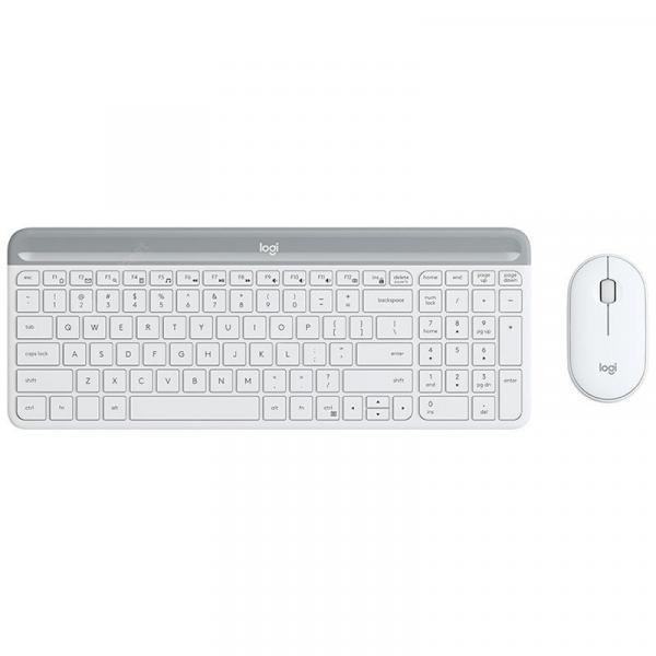 italiaunix-Logitech MK470 108 Keys Wireless Nano Receiver Keyboard 2.4GHz Slim 1000DPI Optical Mouse Set Combo  Gearbest