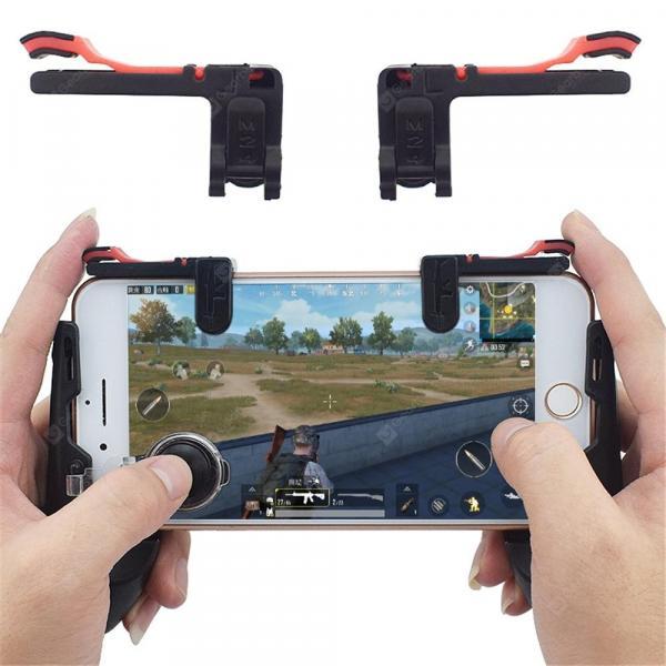 italiaunix-Mobile Phone Shooter Controller Gaming Trigger Fire Button Aim Mechanical Keys  Gearbest