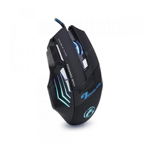 italiaunix-Professional Wired Game USB Computer Mouse 7 Key 5500 PPP LED Photoelectric  Gearbest