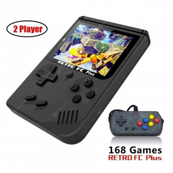 italiaunix-Retro Handheld Game Console 3 Inch Support TV 2 Player 168 Classic Game Console  Gearbest