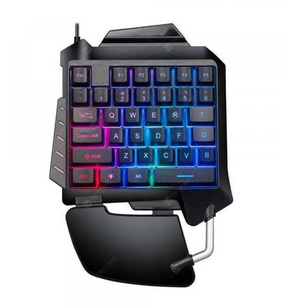 italiaunix-USB Wired Single Handed Gaming Keypad Backlit Keyboard for Phones  Gearbest