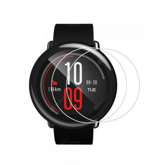 italiaunix-2PCS 0.26mm Tempered Glass Screen Protector for Xiaomi Huami Amazfit Smart watch  Gearbest