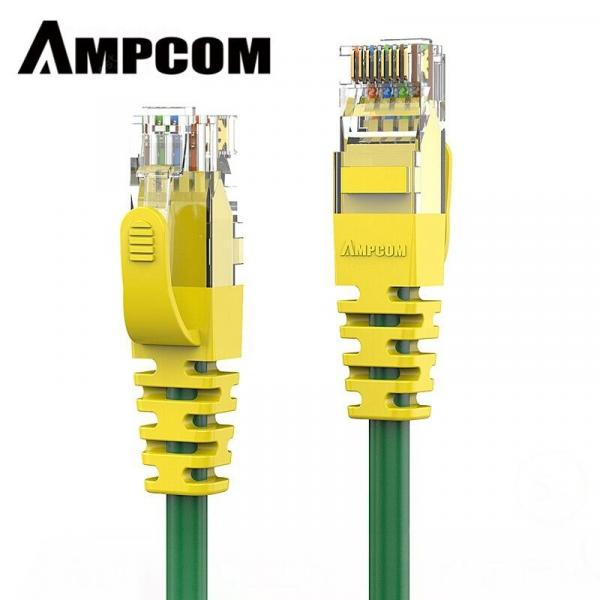italiaunix-AMPCOM Supreme Series CAT6 Ethernet Cable Network Cable UTP Gold Plated Snagless  Patch Cord  Gearbest