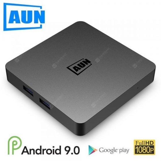 italiaunix-AUN Android 9.0 TV Box 2GB RAM 16G ROM 4K Ultra HD Decoding WIFI HDMI2.0 Google Player Set Top Box  Gearbest