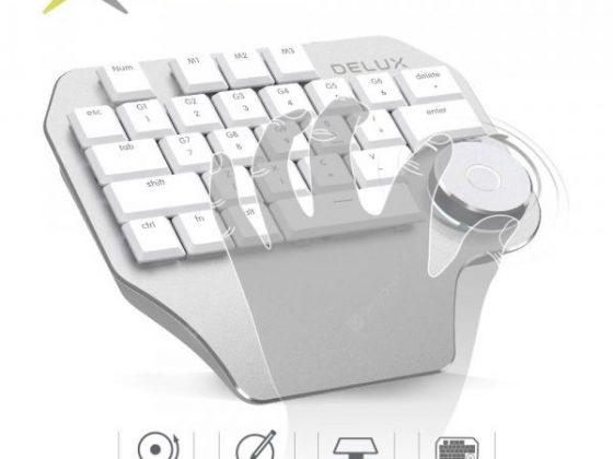 italiaunix-Delux T11 Designer Keyboard with Smart Dial 3 Group Customizable Keys Keypad Compatibility  Gearbest
