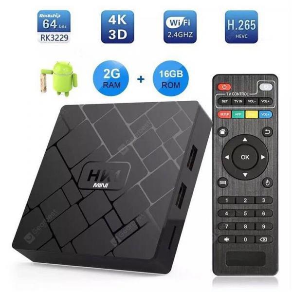 italiaunix-HK1 Mini Android 9.0 Smart TV Box 2G RAM 16G ROM Quad Core RK3229 Set Top Box 4K Wifi media player  Gearbest
