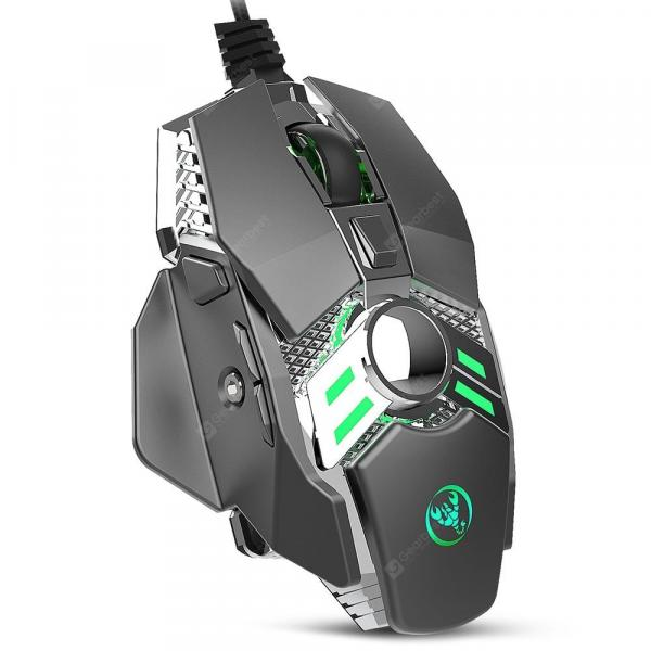 italiaunix-HXSJ J200 Wired 7-button 6400 DPI Adjustable LED Variable Light USB Programmable Computer Mouse Gamer Mechanical Mice  Gearbest