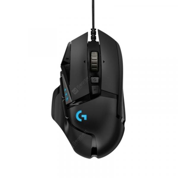 italiaunix-Original Logitech G502 Hero master game mouse Full line upgrade Hero engine 16000DPI RGB glare  Gearbest