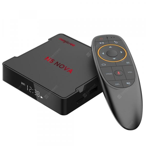 italiaunix-Magicsee N5 NOVA 4GB RAM 64GB ROM 4K TV Box Android 9.0 2.4G Voice Remote with Air Mouse  Gearbest