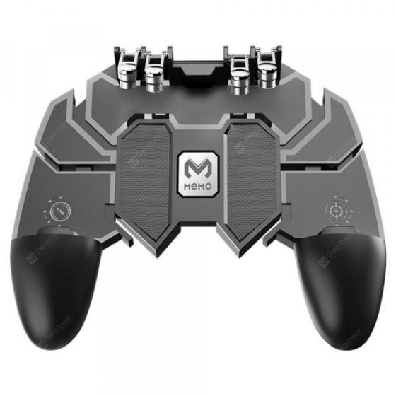 italiaunix-Minismile AK66 Mobile Phone Game Controller Joystick Fire Trigger Gamepad for PUBG  Gearbest