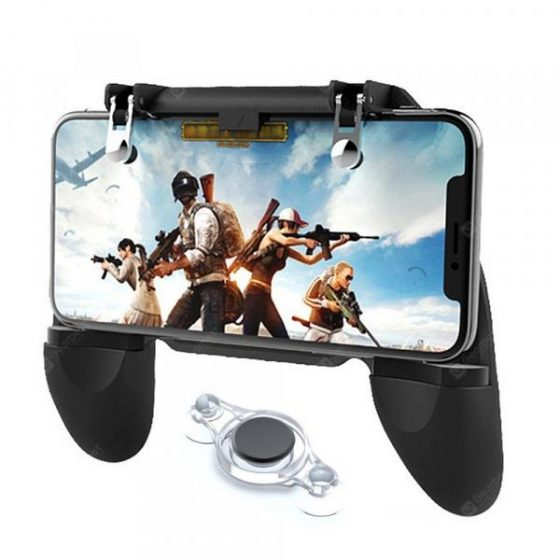 italiaunix-Minismile Smartphone Game Controller Joystick Fire Trigger Gamepad Set for PUBG  Gearbest