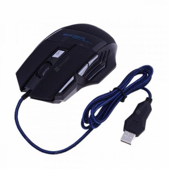 italiaunix-Minismile X5 7 Buttons 5500DPI USB Wired Optical Gaming Mouse Backlit Game Mice  Gearbest