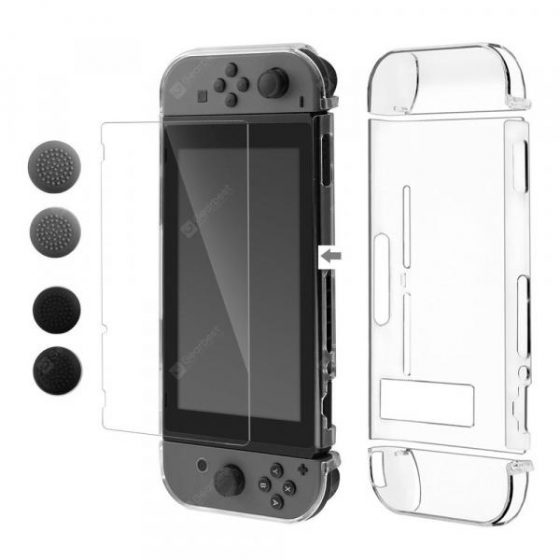 italiaunix-NEW Crystal Case with Tempered Glass Screen Protector Set for Nintendo Switch  Gearbest