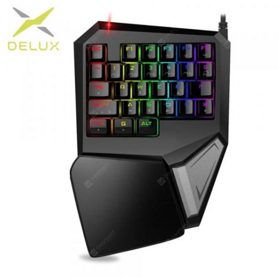 italiaunix-Online Shopping DELUX T9 Plus Professional Mechanical Gaming Keypad with 11 Light Modes  Gearbest