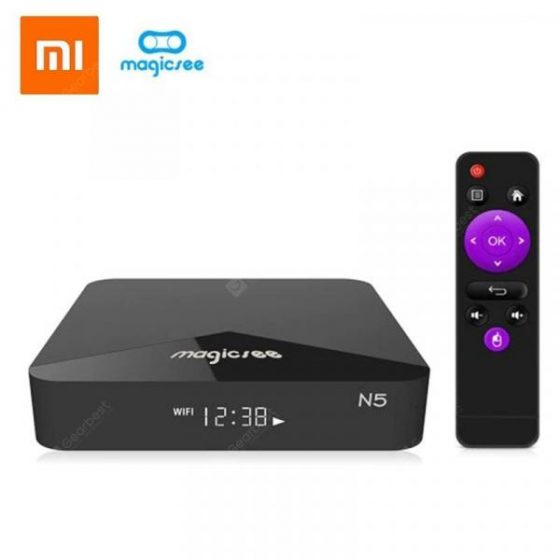 italiaunix-Xiaomi MAGICSEE N5 Android TV OS TV Box  Gearbest